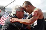 Harry Marra and Ashton after World Record by Getty Images