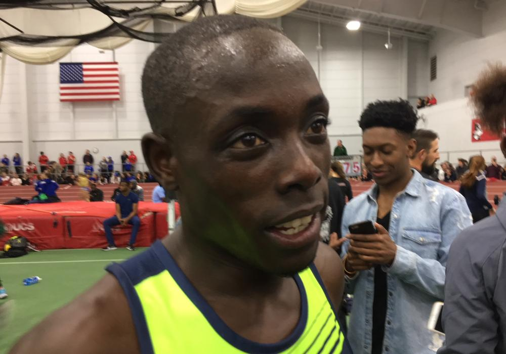 3:49.44 MILE FOR EDWARD CHESEREK AT BOSTON UNIVERSITY By David Monti, @d9monti (c) 2018 Race Results Weekly, all rights reserved - Used with permission.