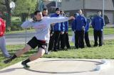 Brandon Lombardino in the ring in a meet last April 2012.