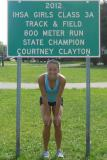 Defending 3A 800 Meter Run Champion Courtney Clayton of Rockton Hononegah not only has her eyes set on repeating her 2012, but also breaking Shelley McBride's 30+ year old state record.